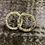 Thumbnail: Small round hammered stud earrings