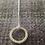 Thumbnail: Small silver Hammered pendant