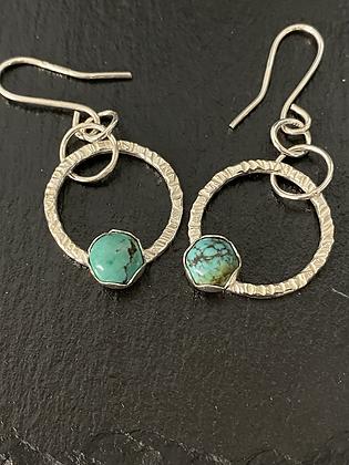 Turquoise stone set earrings