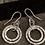 Thumbnail: 2 loop Hammered circle earrings