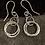 Thumbnail: Large circle chain earrings