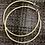 Thumbnail: Medium 2mm hammered hoop earrings