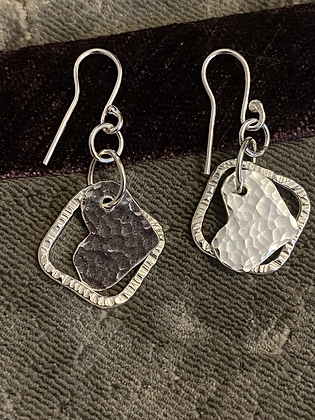 Square and hammered hearts