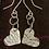 Thumbnail: Hammered love heart earrings