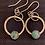 Thumbnail: Turquoise stone set earrings
