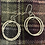 Thumbnail: Oval hammered textured earrings