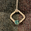 Thumbnail: Square Hammered pendant with Turquoise stone