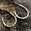 Thumbnail: Small hoop hammered earrings