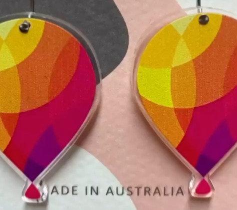 ERC Earrings (Balloon Logo)