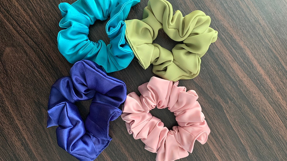 Honey Hair Scrunchies-Matte Polyester Satin