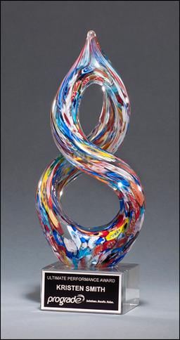 Helix Shaped Glass Art