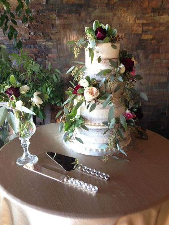 Naked Wedding Cake at The Atrium in Rexburg, Idaho