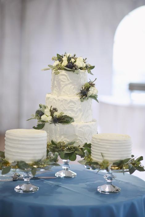 Trio of beautiful buttercream cakes