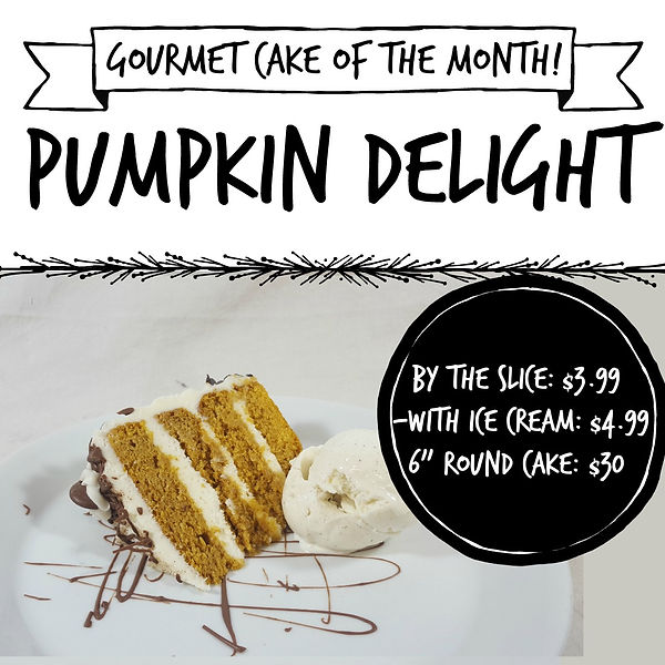 Gourmet Cake of the Month-pumpkin deligh