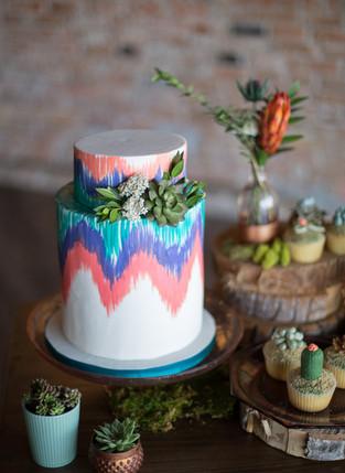Southwestern Wedding Cake
