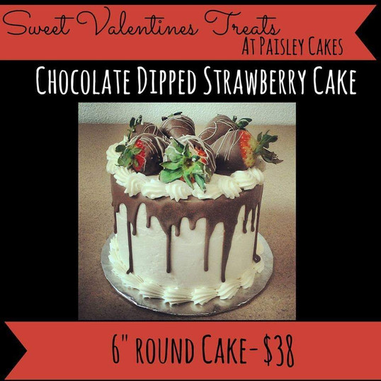 chocolate dipped strawberry cakes
