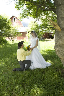 Bride and Groom. Red Barn Events, Blackfoot Idaho. Wedding Venue