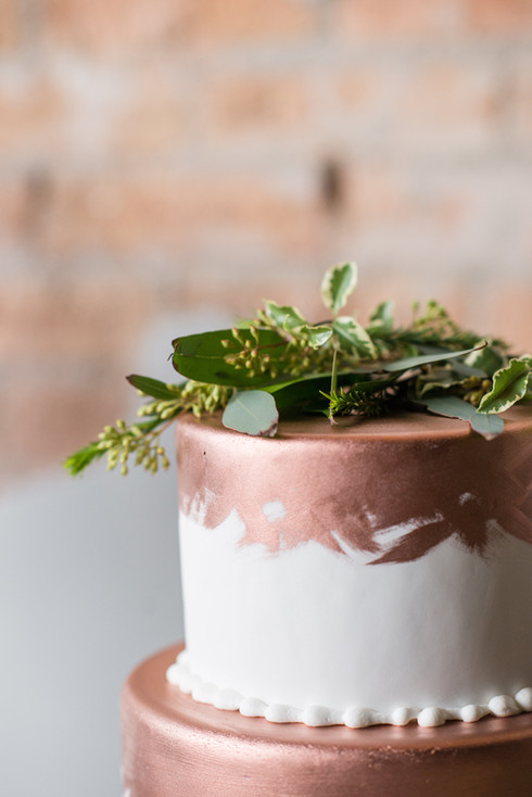 Painted Copper Wedding Cake