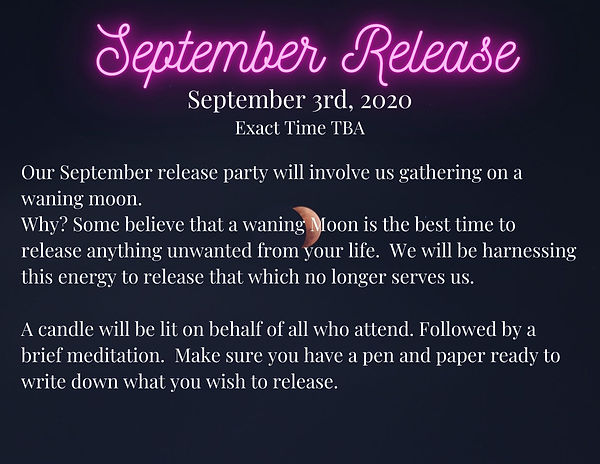 Our September release party will involve