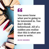 Alice Munro quote