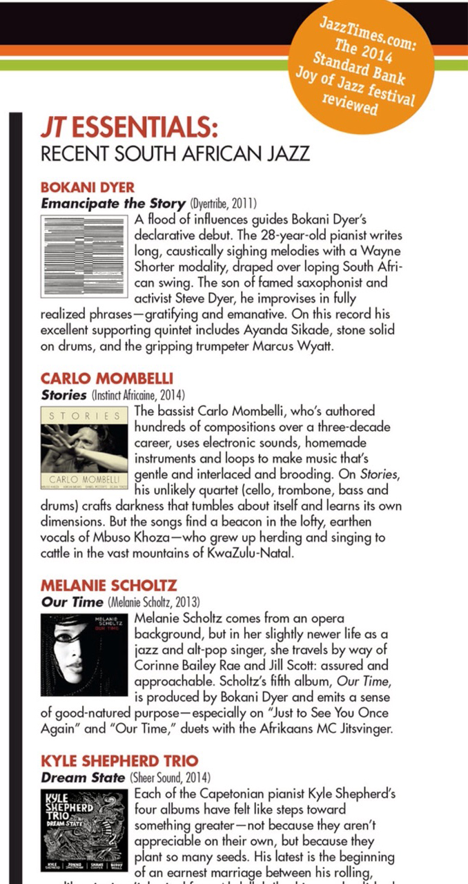 Jazz Times 2014 recommends