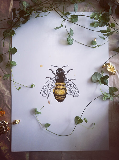 Honey Bee - Original Artwork