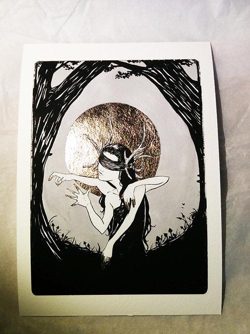 Inks VII - Fine Art Print with Gold Leaf