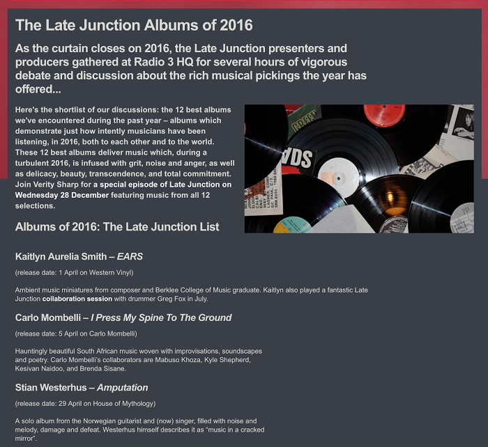 BBC Late Junction best of 2016