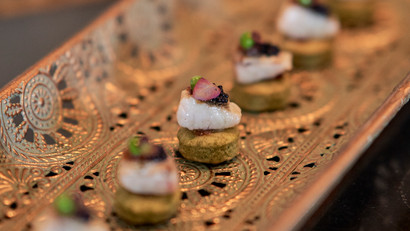 Canapés captured by Lizz Gregg