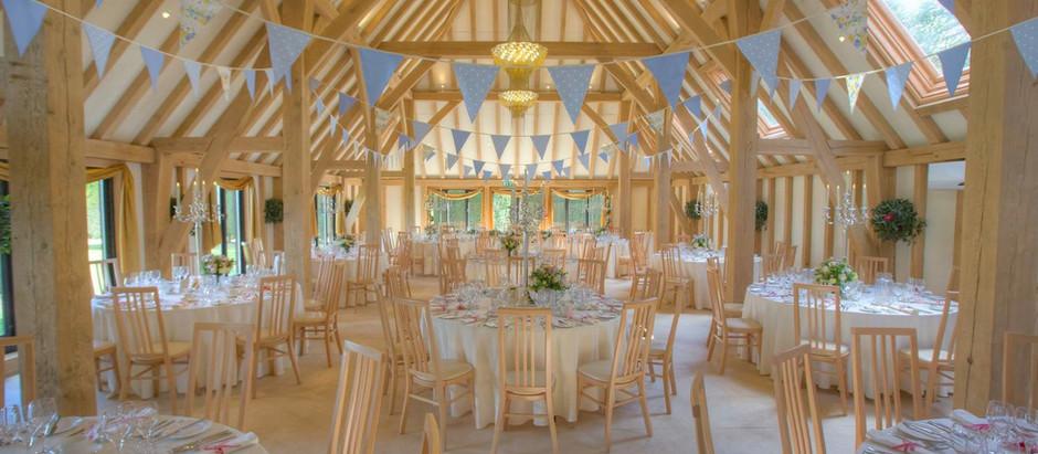 Wedding Reception at The Old Kent Barn - Saturday 4th July 2009
