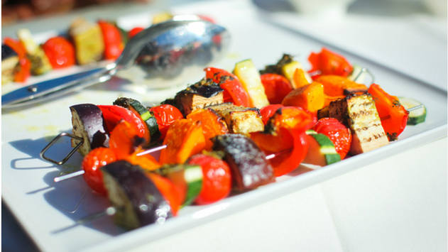 Mediterranean Vegetable Skewers