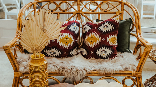 Boho Seating Area created by Locate to Create
