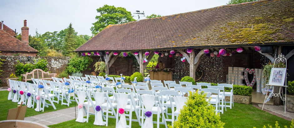 Wedding Reception at Winters Barns - Monday 12th August 2019