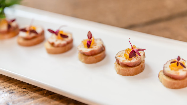 Chicken and Apricot Roulade Canapé