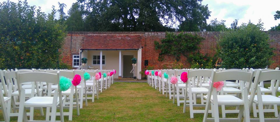 Wedding Reception at Bradbourne House - Saturday 27th August 2011