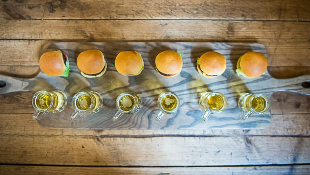 Burger and Beer Canapé