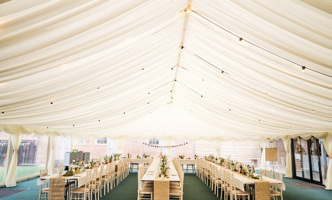 Private Marquee Wedding Reception in Chiddingstone - Saturday 30th August 2008