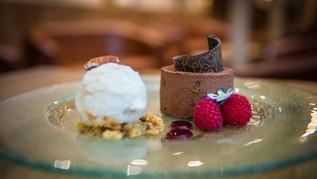 Chocolate Dessert with Pecan Ice Cream