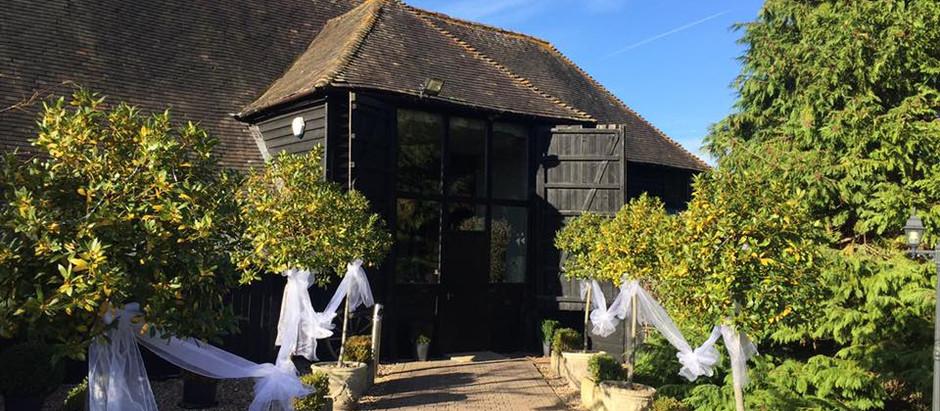 Wedding Reception at Winters Barns - Saturday 10th September 2016