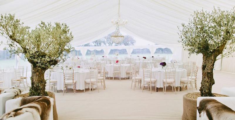 Private Marquee Wedding Reception in Sevenoaks - Saturday 12th September 2009