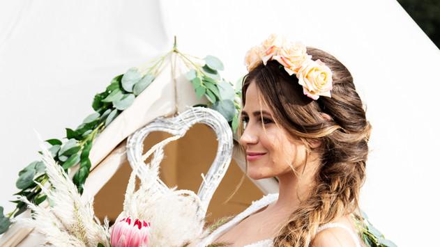 Boho Chic Bride captured by Steve Barber