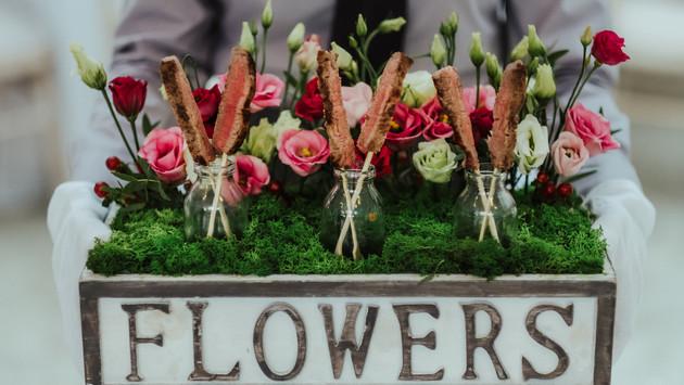 Flower Box Canapés