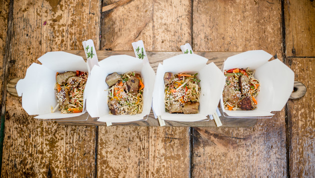 Oriental Noodle Boxes captured by Alexa Kelly
