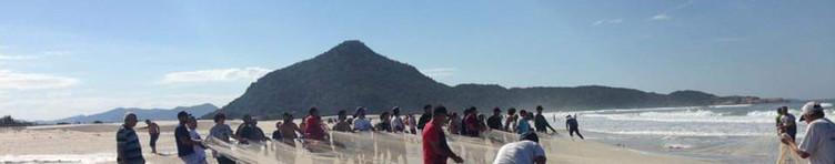 Após a temporada de verão, tem início a temporada de pesca na região. A tradicional Pesca da Tainha ocorre de maio a julho no litoral catarinense e é um espetáculo a parte para os visitantes. Foto: Acervo da Pousada  .