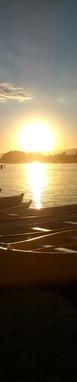 Final de tarde visto na beira da praia da Guarda do Embaú. Foto: Acervo da Pousada  .
