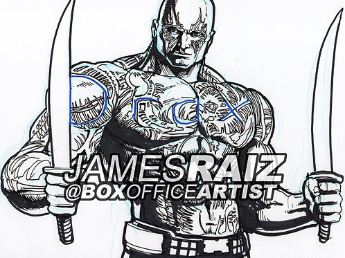 Drawing DRAX from his Name!
