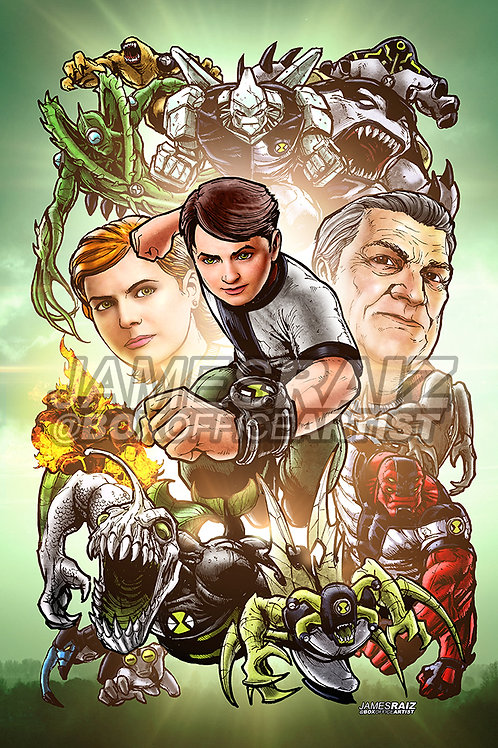 Ben 10 in a Marvel Style
