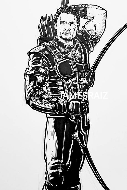 Hawkeye Inktober