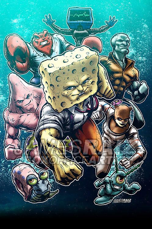Spongebob in a Marvel Style