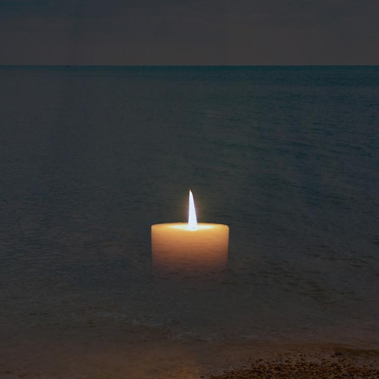 Seaside Candle with mini meditation